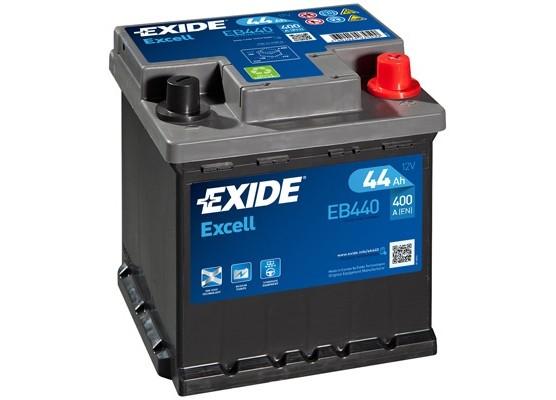 Μπαταρία αυτοκινήτου Exide Excell EB440 - 12V 44Ah - 400 CCA A(EN) εκκίνησης