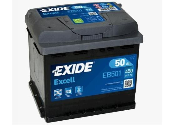 Μπαταρία αυτοκινήτου Exide Excell EB501 - 12V 50Ah - 450 CCA A(EN) εκκίνησης