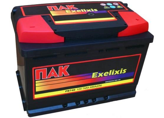 Μπαταρία αυτοκινήτου Πακ Excelixis PB740 - 12V 74 Ah - 680CCA A(EN) εκκίνησης