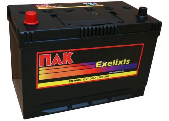 Μπαταρία αυτοκινήτου Πακ Excelixis PB1005 - 12V 100 Ah - 720CCA A(EN) εκκίνησης