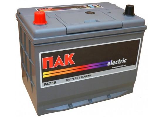 Μπαταρία αυτοκινήτου Πακ Electric PA755 - 12V 75 Ah - 630CCA A(EN) εκκίνησης