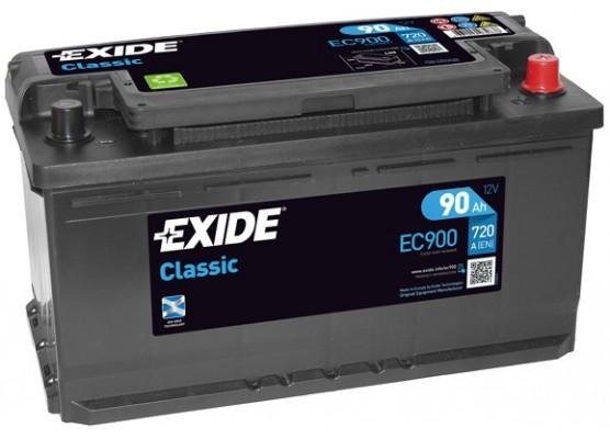 Μπαταρία αυτοκινήτου Exide Classic EC900 - 12V 90 Ah - 720CCA A(EN) Εκκίνησης