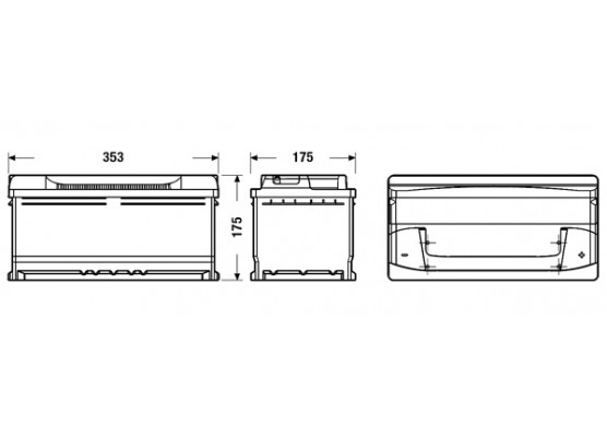 Μπαταρία αυτοκινήτου Exide Excell EB852 - 12V 85Ah - 760 CCA A(EN) εκκίνησης
