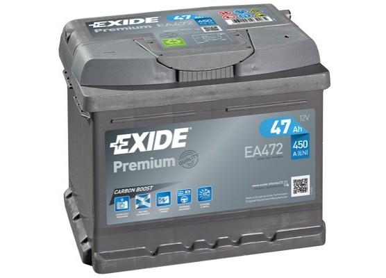 Μπαταρία αυτοκινήτου Exide Premium EA472 - 12V 47 Ah - 450CCA A(EN) εκκίνησης