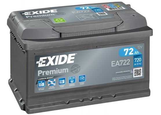 Μπαταρία αυτοκινήτου Exide Premium EA722 - 12V 72 Ah - 720CCA A(EN) εκκίνησης