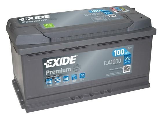 Μπαταρία αυτοκινήτου EA1000 Exide Premium - 12V 100 Ah - 900CCA A(EN) εκκίνησης