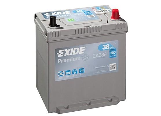 Μπαταρία αυτοκινήτου Exide Premium EA386 - 12V 38 Ah - 300CCA A(EN) εκκίνησης