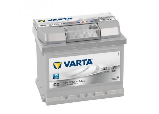 Μπαταρία αυτοκινήτου Varta Silver C6 - 12V 52 Ah - 520CCA A(EN) εκκίνησης