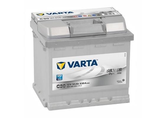 Μπαταρία αυτοκινήτου Varta Silver C30 - 12V 54 Ah - 530CCA A(EN) εκκίνησης