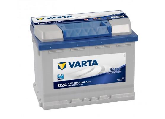 Μπαταρία αυτοκινήτου Varta Blue D24 - 12V 60 Ah - 540CCA A(EN) εκκίνησης