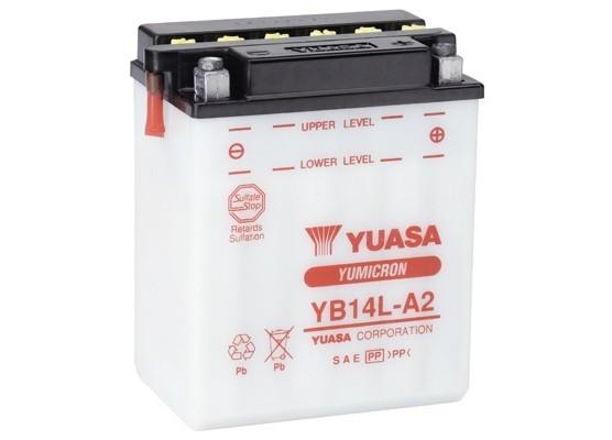 Μπαταρία μοτοσυκλετών YUASA INDONESIA Yumicron YB14L-A2 - 12V 14 (10HR) - 190 CCA (EN) εκκίνησης