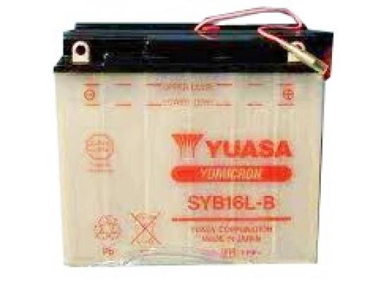 Μπαταρία μοτοσυκλετών YUASA Yumicron SYB16L-B - 12V 19 (10HR) - 240 CCA (EN) εκκίνησης