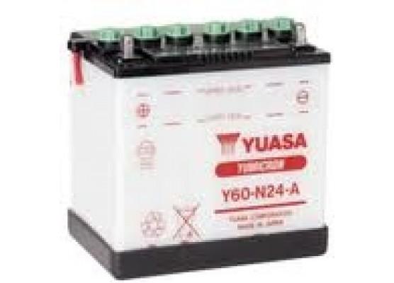 Μπαταρία μοτοσυκλετών YUASA Yumicron Y60-N24-A - 12V 28 (10HR) - 300 CCA (EN) εκκίνησης