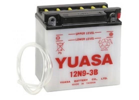 Μπαταρία μοτοσυκλετών YUASA Conventional 12N9-3B - 12V 9 (10HR) - 85 CCA (EN) εκκίνησης