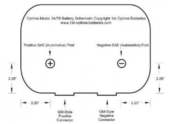 Μπαταρία εκκίνησης και εκφόρτισης Optima yellow top YTU 4.2 , 12V 55Ah - 765 CCA A(EN) εκκίνησης
