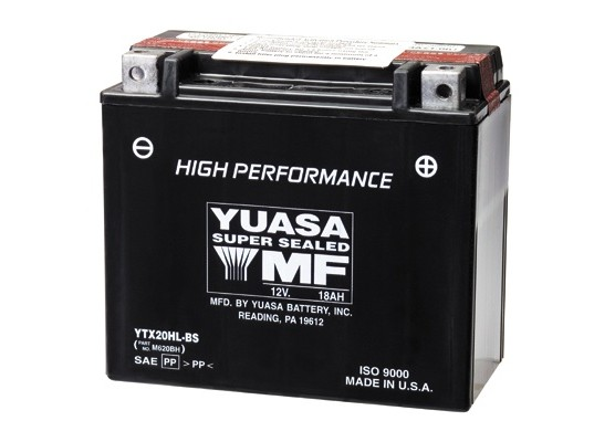 Μπαταρία μοτοσυκλετών YUASA High Performance Maintenance Free YTX20HL-BS -12V 18 (10HR)Ah - 310 CCA(EN) εκκίνησης