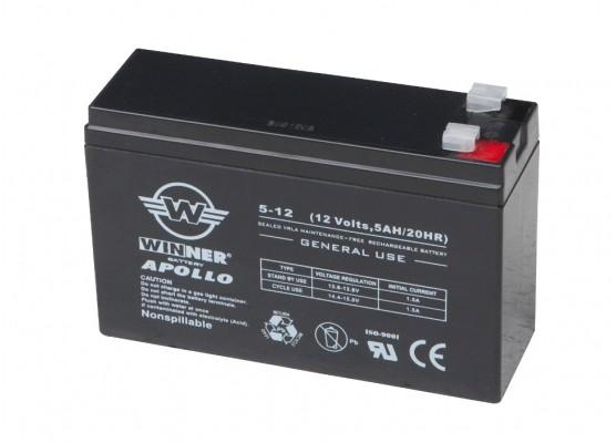 Μπαταρία Winner Apollo VRLA - AGM τεχνολογίας - 12V 5Ah κατάλληλα για συστήματα ups