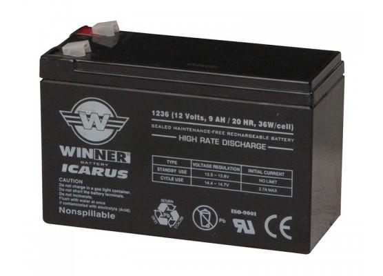 Μπαταρία Winner Icarus VRLA - AGM τεχνολογίας με εκφόρτιση υψηλής απόδοσης - 12V 9Ah