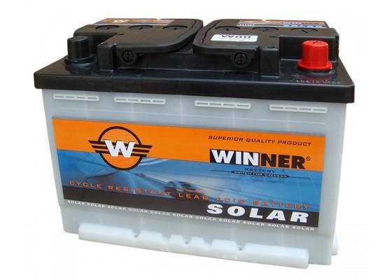 Μπαταρία βαθιάς εκφόρτισης Winner Solar W80 - 12V 80Ah (C20)