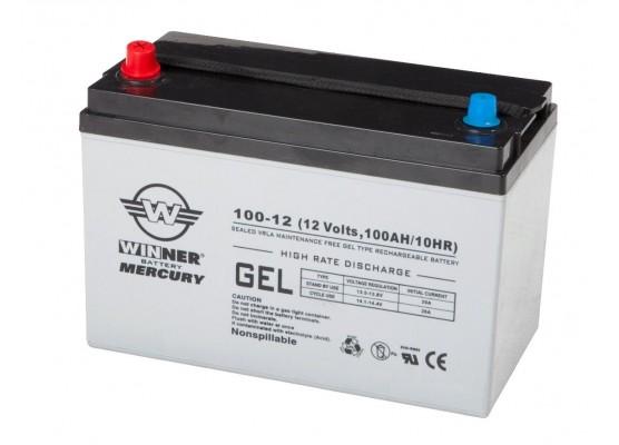 Μπαταρία Winner Mercury VRLA - GEL τεχνολογίας υψηλής απόδοσης - 12V 100Ah