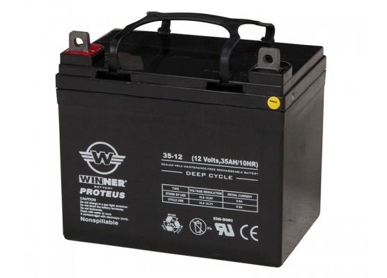 Μπαταρία Winner Proteus VRLA - Deep Cycle AGM τεχνολογίας - 12V 35Ah
