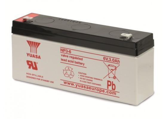 Μπαταρία YUASA NP3-6 VRLA - AGM τεχνολογίας - 6V 3Ah