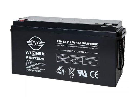 Μπαταρία Winner Proteus VRLA - Deep Cycle AGM τεχνολογίας - 12V 150Ah
