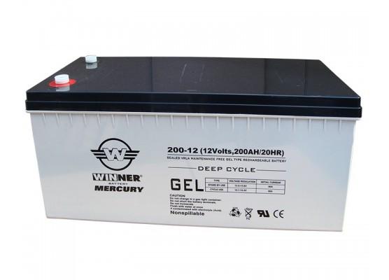 Μπαταρία Winner Mercury VRLA - GEL τεχνολογίας υψηλής απόδοσης - 12V 200Ah