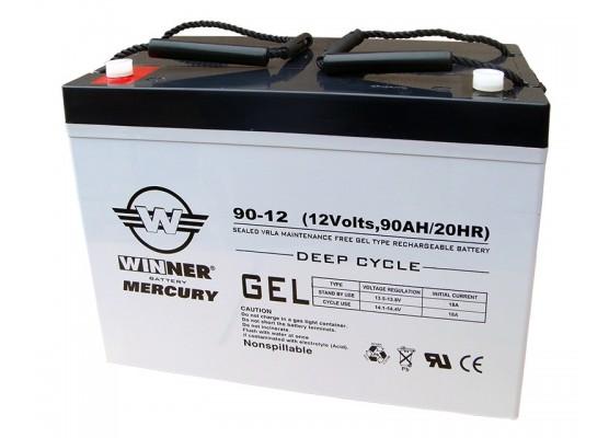 Μπαταρία Winner Mercury VRLA - GEL τεχνολογίας υψηλής απόδοσης - 12V 90Ah