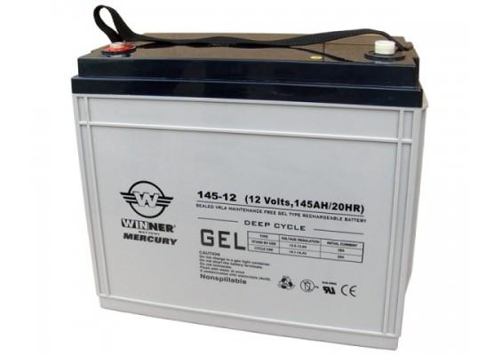 Μπαταρία Winner Mercury VRLA - GEL τεχνολογίας υψηλής απόδοσης - 12V 145Ah