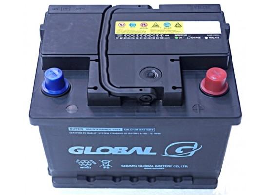 Μπαταρία αυτοκινήτου ευρωπαϊκού τύπου GLOBAL SMF 55066 - 12V 50Ah - 415CCA(SAE) εκκίνησης