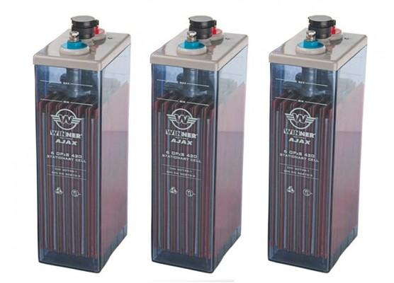 Μπαταρία φωτοβολταϊκών υγρού τύπου Winner Ajax 12 OPzS 1200 - 2V 1278Ah(C10)