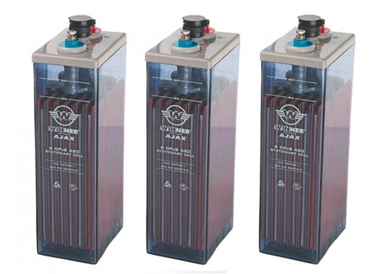 Μπαταρία φωτοβολταϊκών υγρού τύπου Winner Ajax 5 OPzS 250 - 2V 259Ah(C10)