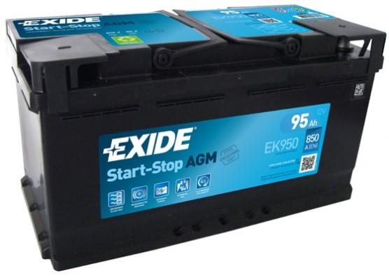 Μπαταρία αυτοκινήτου Exide AGM Start & Stop EK950 - 12V 95 Ah - 850CCA A(EN) Εκκίνησης