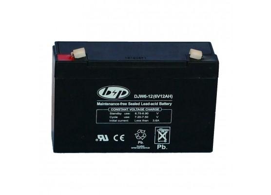 Μπαταρία B&P DJW 6-12 VRLA - AGM τεχνολογίας - 6V 12Ah