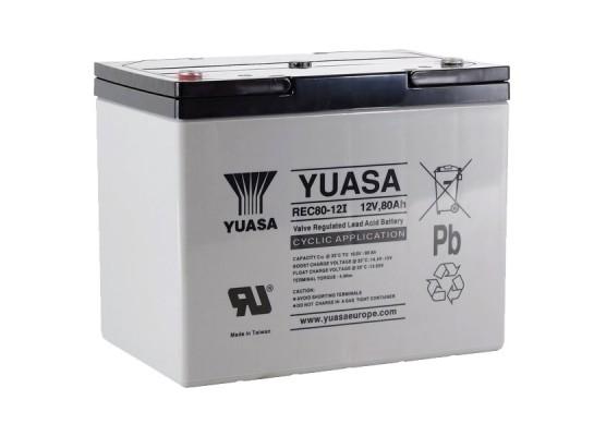 Μπαταρία YUASA REC80-12 VRLA - AGM τεχνολογίας - 12V 80Ah