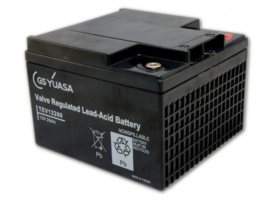 Μπαταρία YUASA TEV 12260 VRLA - AGM τεχνολογίας - 12V 26Ah