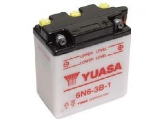 Μπαταρία μοτοσυκλετών YUASA Conventional 6N6-3B-1 - 6V 6 (10HR)