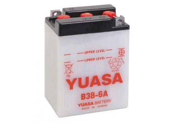 Μπαταρία μοτοσυκλετών YUASA Conventional B38-6A - 6V 13 (10HR)