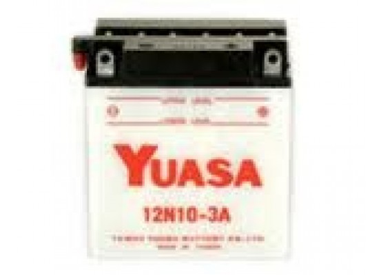 Μπαταρία μοτοσυκλετών YUASA Conventional 12N10-3A - 12V 10 (10HR) - 103 CCA (EN) εκκίνησης