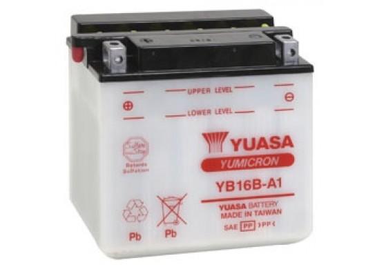 Μπαταρία μοτοσυκλετών YUASA Yumicron YB16B-A1 - 12V 16 (10HR) - 207 CCA (EN) εκκίνησης