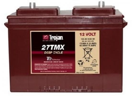 Μπαταρία Trojan Deep - Cycle Flooded βαθιάς εκφόρτισης 27TMX - 12V 105Ah