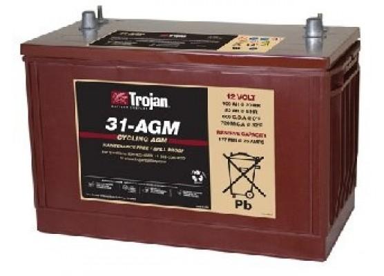Μπαταρία Trojan Deep - Cycle AGM βαθιάς εκφόρτισης 31- AGM -12V 100Ah (C20)