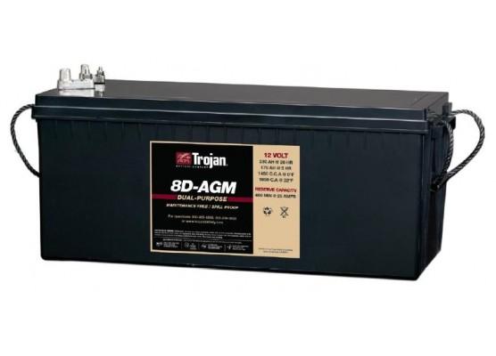 Μπαταρία Trojan Deep - Cycle AGM βαθιάς εκφόρτισης 8D- AGM -12V 230Ah (C20)