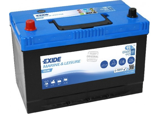 Μπαταρία Exide Dual ER450 - 12V 95Ah - 650CCA A(EN) εκκίνησης