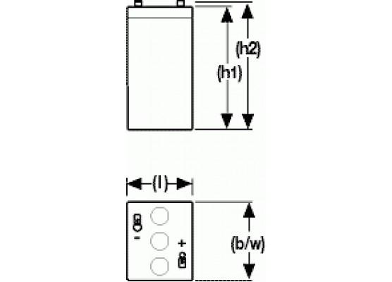 Μπαταρία Sonnenschein A506/4.2 S - GEL τεχνολογίας - 6V 4.2Ah