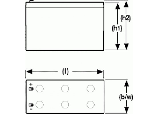 Μπαταρία Sonnenschein A512/6.5 S - GEL τεχνολογίας - 12V 6.5Ah