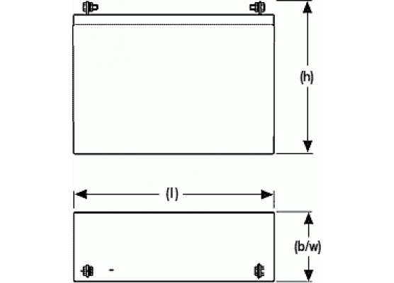 Μπαταρία Sonnenschein A512/16 G5 - GEL τεχνολογίας - 12V 16.0Ah