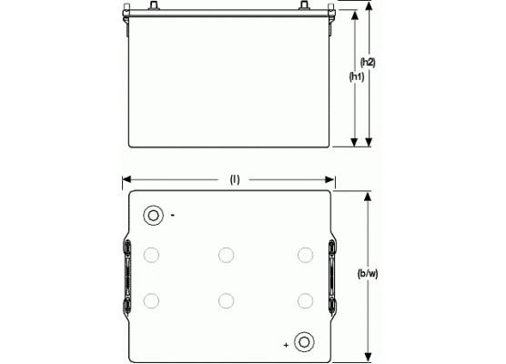 Μπαταρία Sonnenschein A512/115 A - GEL τεχνολογίας - 12V 115Ah