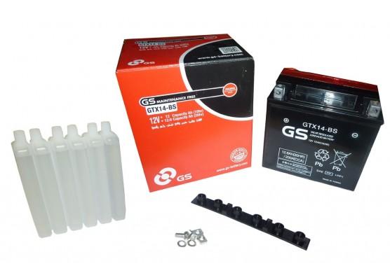Μπαταρία μοτοσυκλετών GS Maintenance Free GTX14-BS - 12V 12 Ah(10HR) - 200 CCA(EN) εκκίνησης